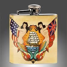 sailor jerry style tattoo flash flask traditional tattoo art