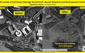 syria before and after satellite photos show syrian site flattened after us led strikes