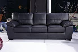 Leather 3 Seater Sofas 3 Seater Black Leather Sofa