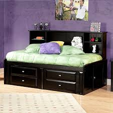 Twin Beds With Drawers Twin Beds With Storage Drawers Bookcase Headbord U2014 Modern Storage