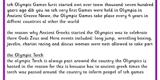 Editing And Proofreading Worksheets The Olympics Editing Task Classroom Secrets