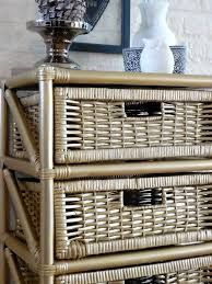 upcycle project old rattan furniture transformed with gold spray