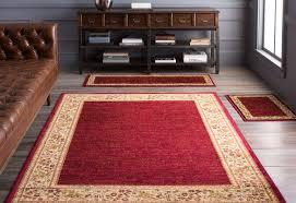 Red Carpet Rug Threadbind Harlan Burgundy 3 Piece Indoor Outdoor Area Rug Set