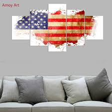 American Flag Living Room by Aliexpress Com Buy 5 Panels American Flag Wall Pictures For