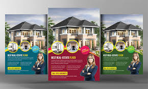 one sided brochure template real estate flyer template 27 free psd ai vector eps format