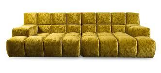 canapé bretz modular sofa contemporary velvet 3 seater 7 bretz