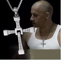 silver cross necklace pendants images Mens silver cross necklace pendant fast and furious dominic jpg
