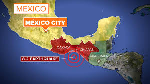 Oaxaca Mexico Map Powerful Earthquake Strikes Off Coast Of Southern Mexico