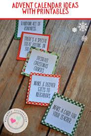 easy diy advent calendar activity ideas and printables