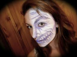 half face monster halloween facepainting tutorial youtube