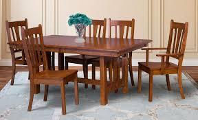 mondovi trestle table amish direct furniture