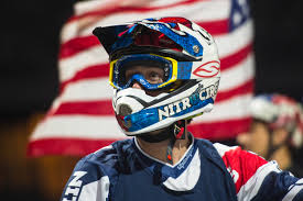 red bull helmet motocross travis pastrana nitro circus exclusive athlete transworld