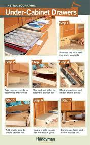 under cabinet storage kitchen diy tutorial how to build under cabinet drawers increase kitchen