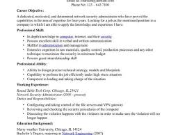 network security administrator sample resume 44 best resume