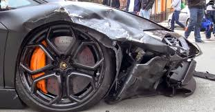crashed lamborghini neon and napalm smashing up a lamborghini or ferrari is never pretty