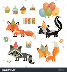 childrens birthday party cute birthday squirrel stock vector