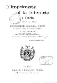 les chambres de l imprimerie l imprimerie et la librairie à de 1789 à 1813