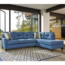 Blue Sleeper Sofa Benchcraft Kirwin Nuvella Sectional With Sleeper Sofa U0026 Right