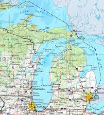 map of michigan michigan maps perry castañeda map collection ut library
