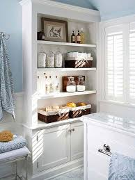 built in bathroom shelves closet ideas