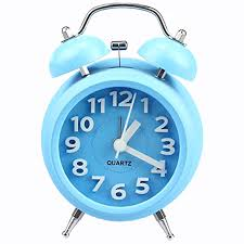 night light alarm clock fashion double bell night light children alarm clock blue in alarm