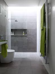 Grey Slate Tile Bathroom Contemporary 3 4 Bathroom With Pental Meteor Grigio 12x24