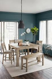 Dining Room Counter Height Tables Tribeca Counter Height Table 4 Side Chairs And Bench Gray