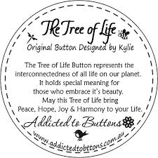 tree of original designed button button necklace