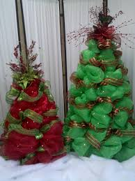 deco mesh christmas trees cute idea i could use tomato cages and