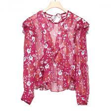 print blouse rasberry muster floral print blouse antonia