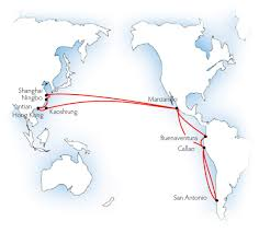 Map Of South America And Mexico by Mol Ups Malaysia Mexico Wc South America Rate Us 800 Teu July 18