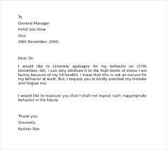 apology letter for disrespectful behavior business letter template
