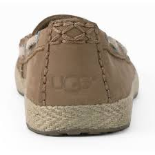 ugg womens shoes uk ugg s chivon leather moccasin shoes chestnut free uk