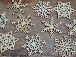 Wood Christmas Ornament 3 Inch Snowflake Wood Christmas Ornaments 10 Pack Style Mix