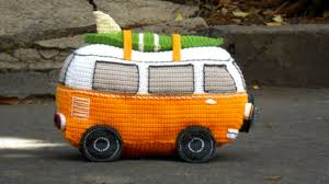 orange volkswagen van crochet volkswagen bus free pattern all the best ideas