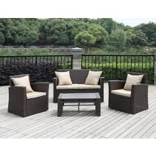 Patio Chairs With Ottoman Chair U0026 Ottoman Sets Patio Furniture Outdoor Seating U0026 Dining