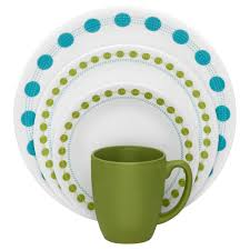 Corelle 76 Piece Dinnerware Set Decorating Spring Blossom Corelle Dinnerware Set In Green And