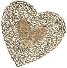 heart doilies 6 lace heart doilies gold foil royal lace food service