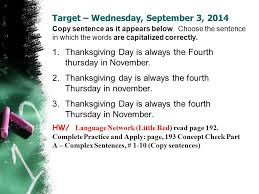 target wednesday september 3 2014 copy sentence as it appears