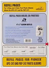 Pioneer Album Refills Pioneer Photo Albums 4x7 Aps 247 Album Refill Amazon Ca Home