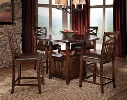 bar height dining table with leaf classy round dining table with storage and 4 rustic wooden kitchen