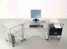Glass Top Computer Desk Ikea Furniture Inspiring L Shaped Glass Clear Top Computer Desk With