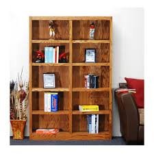 Bookcase Wide Concepts In Wood Midas Double Wide 10 Shelf Bookcase In Dry Oak