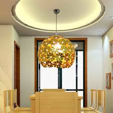 interior modern pendant lighting dining with glowing stainless