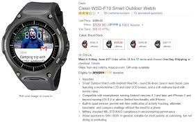 pebble watch amazon black friday update now 317 and 323 deal alert casio wsd f10 outdoor