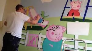 peppa pig wall mural home design