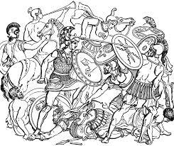 roman battle clipart etc
