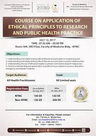 course on application of ethical principles to research and public