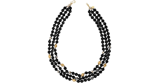 sterling silver pearls necklace images Chan luu onyx and 18k yellow gold finished sterling silver bead jpeg