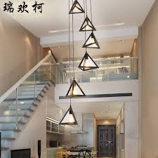 Villa Stairs Design Stairs Lights Simple Lamp Modern Rotary Staircase Pendant Light